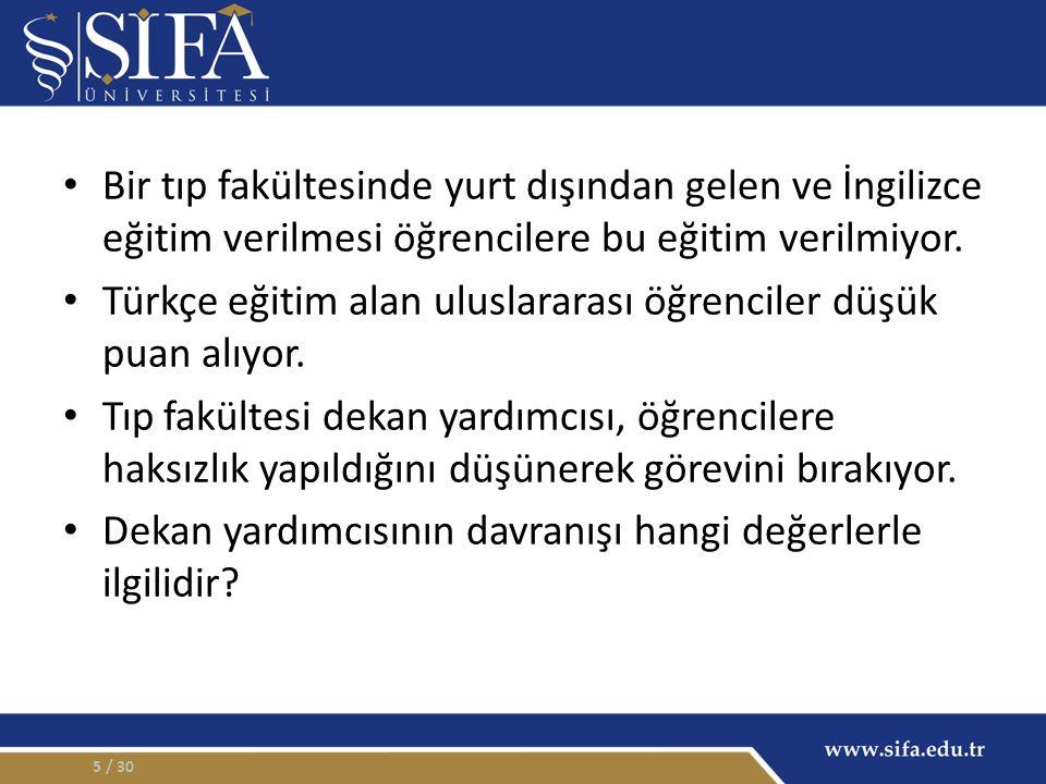 Türkçe eğitim alan uluslararası öğrenciler düşük puan alıyor.