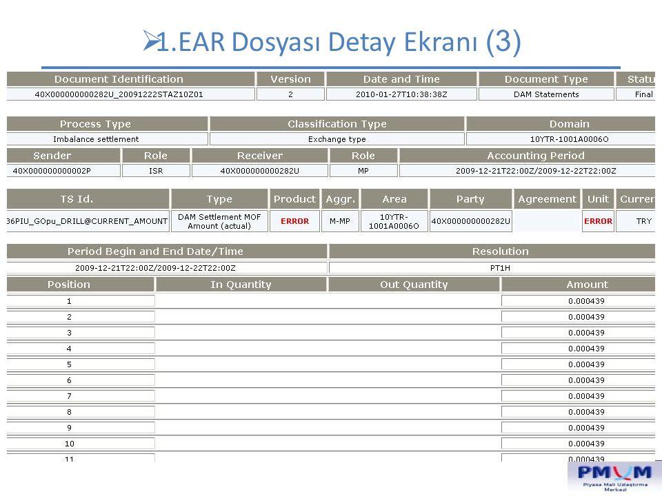1.EAR Dosyası Detay Ekranı (3)
