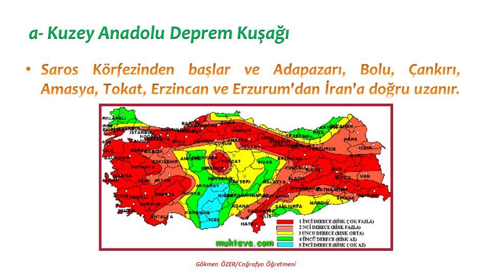a- Kuzey Anadolu Deprem Kuşağı