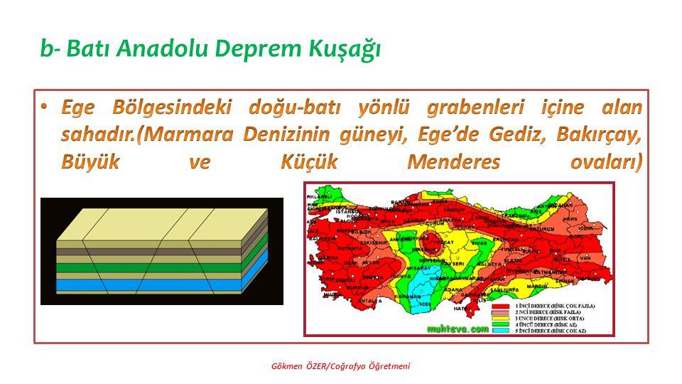 b- Batı Anadolu Deprem Kuşağı