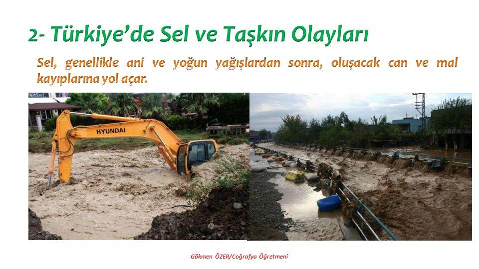 2- Türkiye'de Sel ve Taşkın Olayları