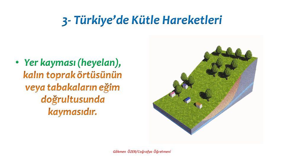 3- Türkiye'de Kütle Hareketleri