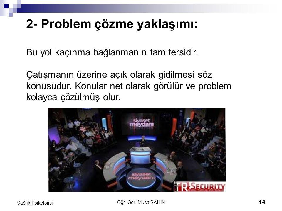 2- Problem çözme yaklaşımı: