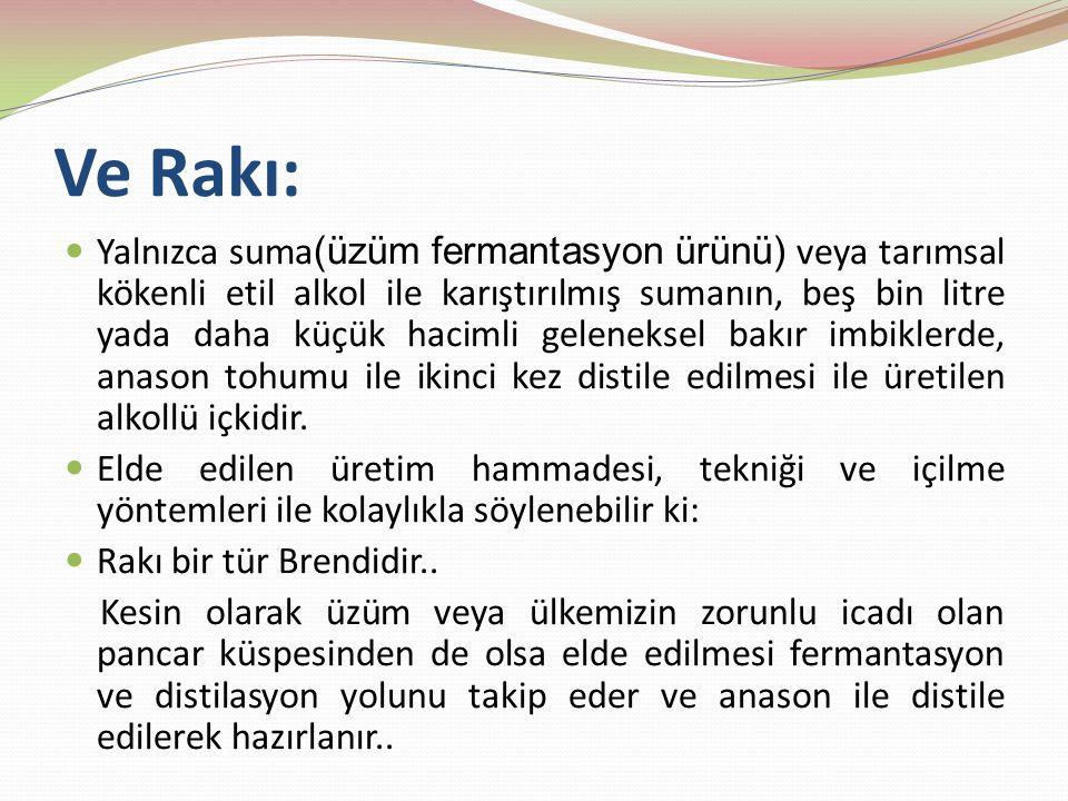 Ve Rakı: