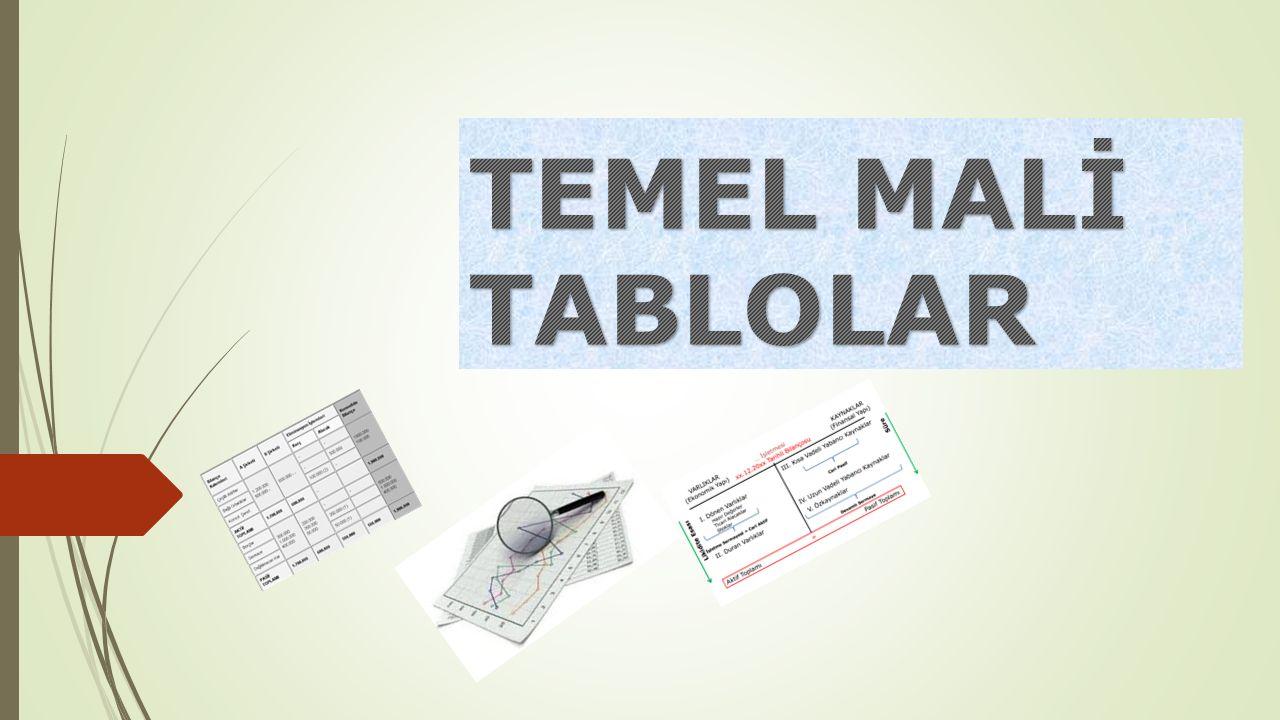 TEMEL MALİ TABLOLAR