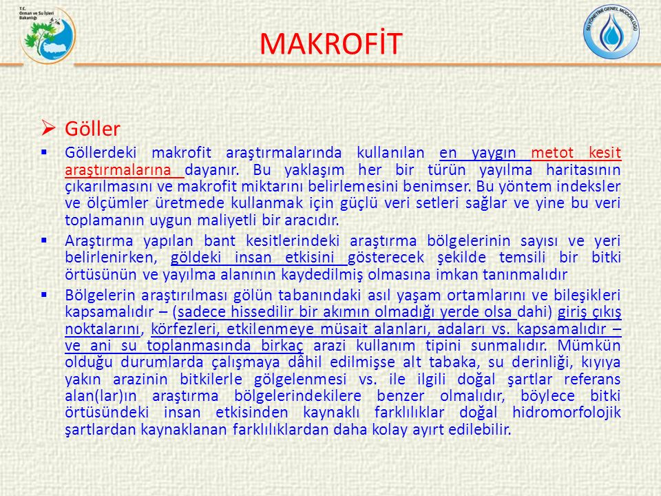 MAKROFİT Göller.