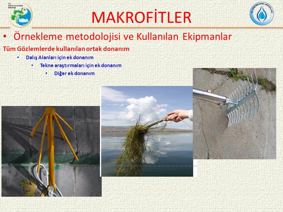 MAKROFİTLER Örnekleme metodolojisi ve Kullanılan Ekipmanlar