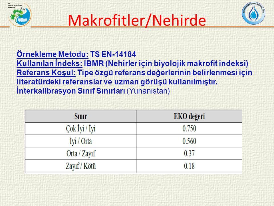 Makrofitler/Nehirde Örnekleme Metodu: TS EN-14184