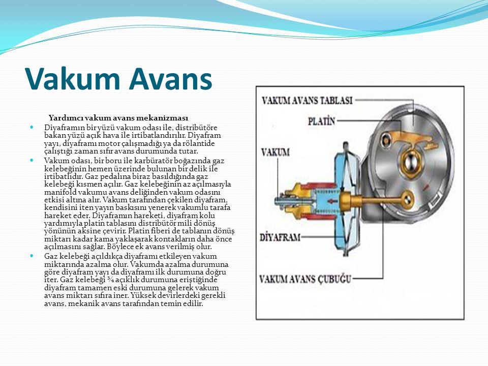 Vakum Avans Yardımcı vakum avans mekanizması