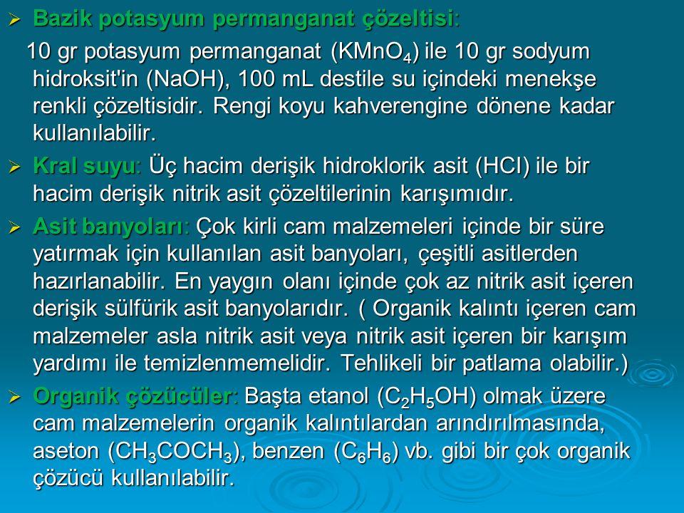 Bazik potasyum permanganat çözeltisi: