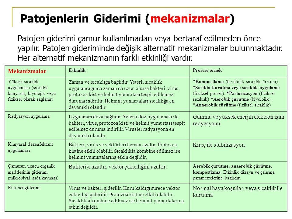 Patojenlerin Giderimi (mekanizmalar)