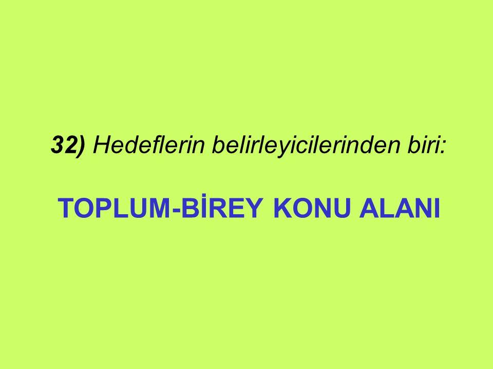 TOPLUM-BİREY KONU ALANI