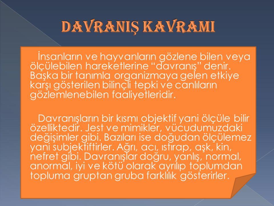 DAVRANIŞ KAVRAMI