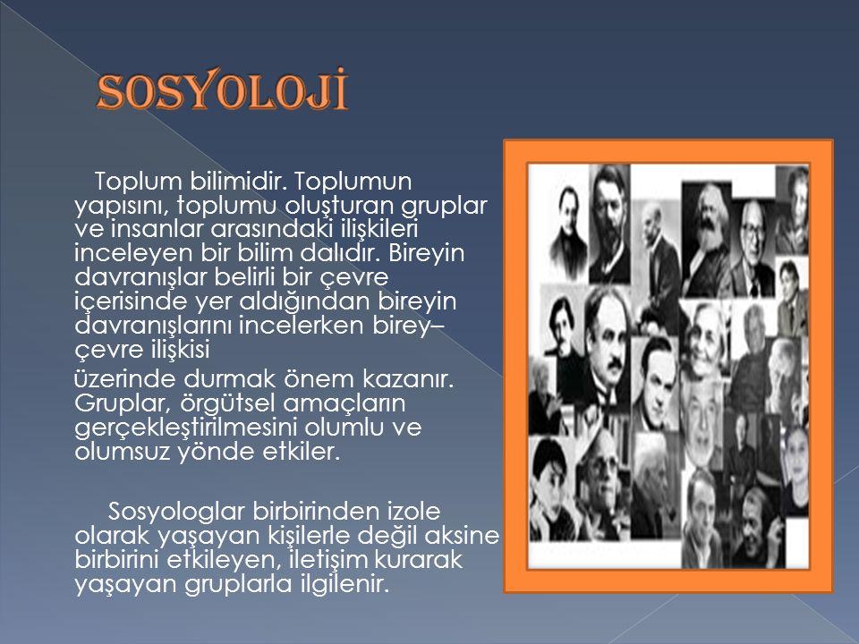 SOSYOLOJİ