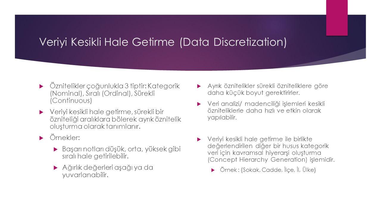 Veriyi Kesikli Hale Getirme (Data Discretization)