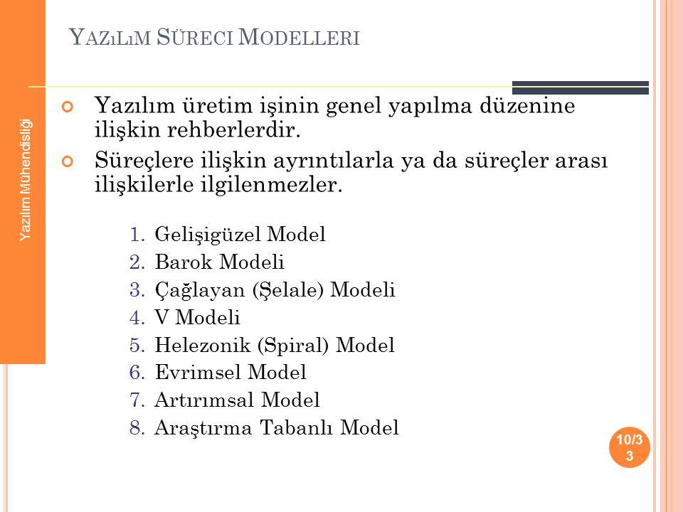 Yazılım Süreci Modelleri