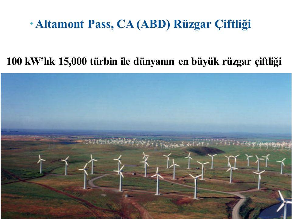 100 kW'lık 15,000 türbin ile dünyanın en büyük rüzgar çiftliği