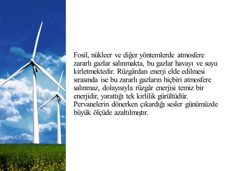 Fosil, nükleer ve diğer yöntemlerde atmosfere zararlı gazlar salınmakta, bu gazlar havayı ve suyu kirletmektedir.