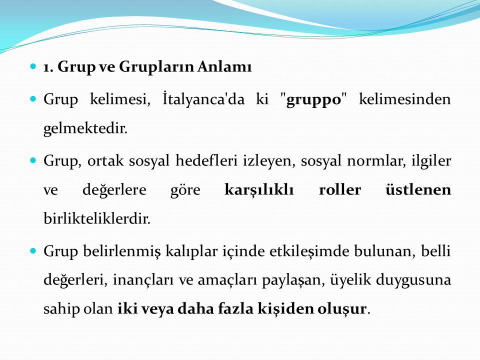 1. Grup ve Grupların Anlamı