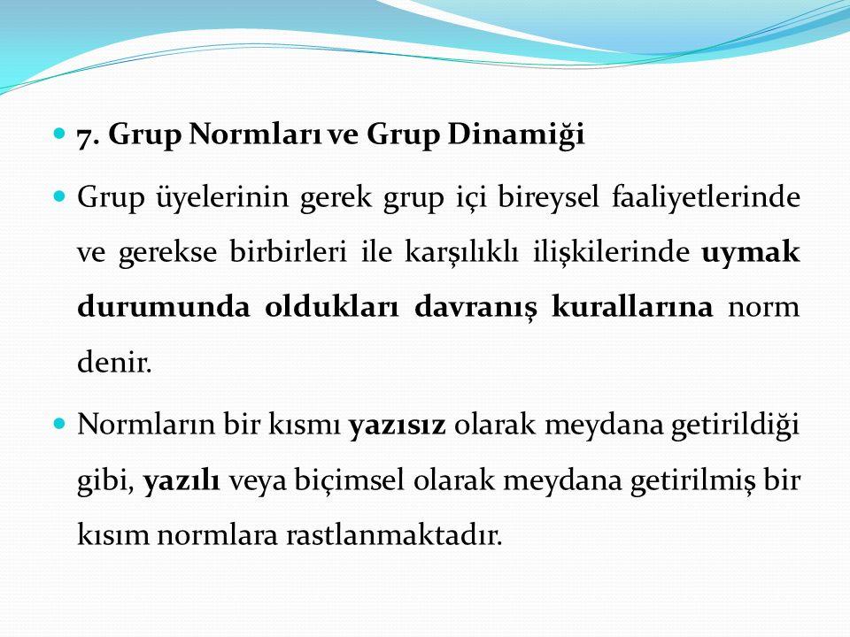 7. Grup Normları ve Grup Dinamiği