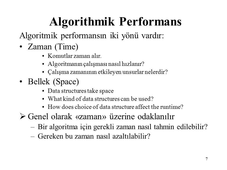 Algorithmik Performans