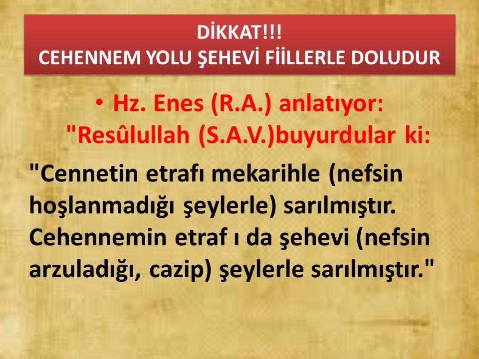 DİKKAT!!! CEHENNEM YOLU ŞEHEVİ FİİLLERLE DOLUDUR