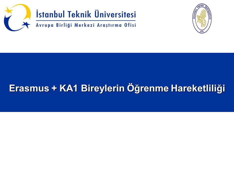 Erasmus + KA1 Bireylerin Öğrenme Hareketliliği