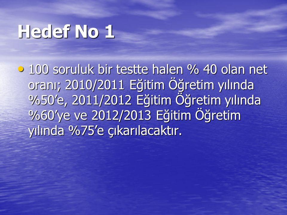 Hedef No 1