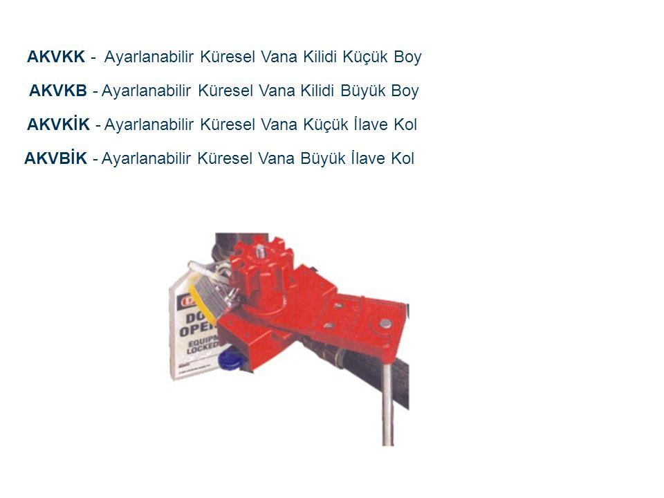 AKVKK - Ayarlanabilir Küresel Vana Kilidi Küçük Boy