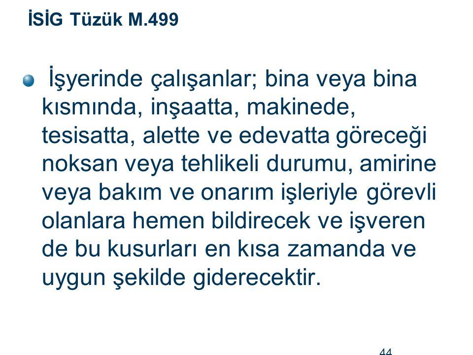 İSİG Tüzük M.499