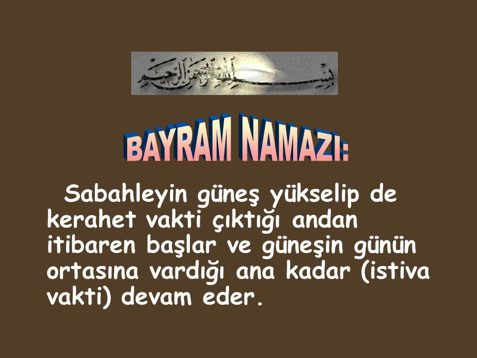 BAYRAM NAMAZI: