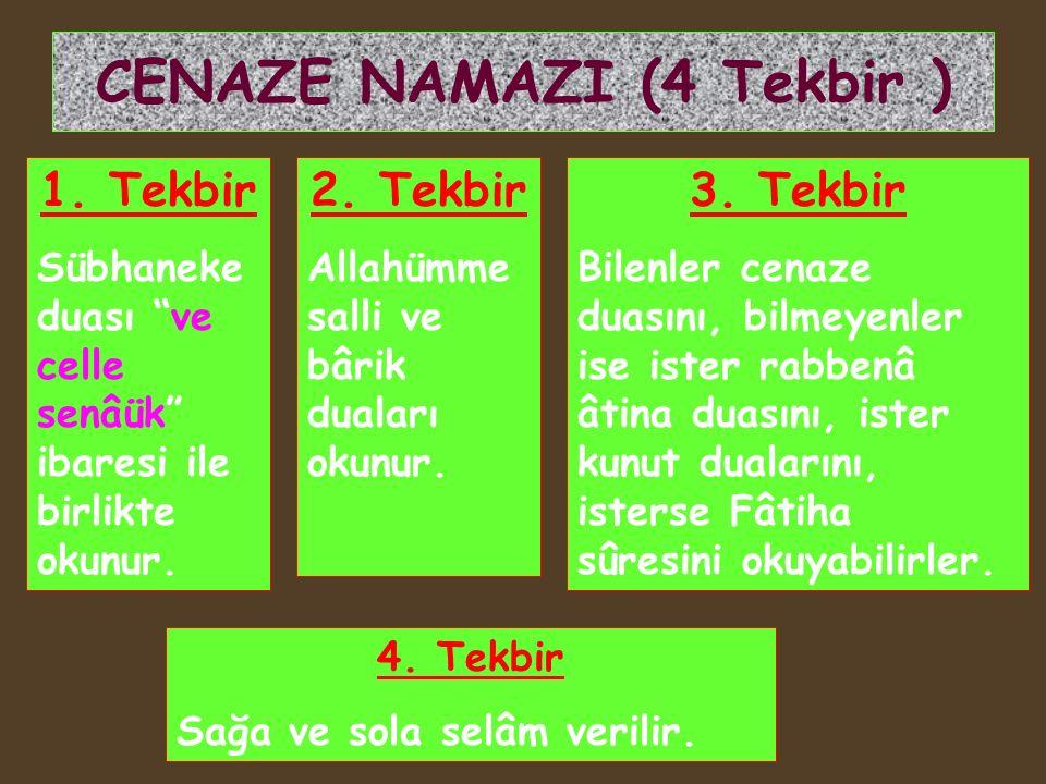 CENAZE NAMAZI (4 Tekbir )