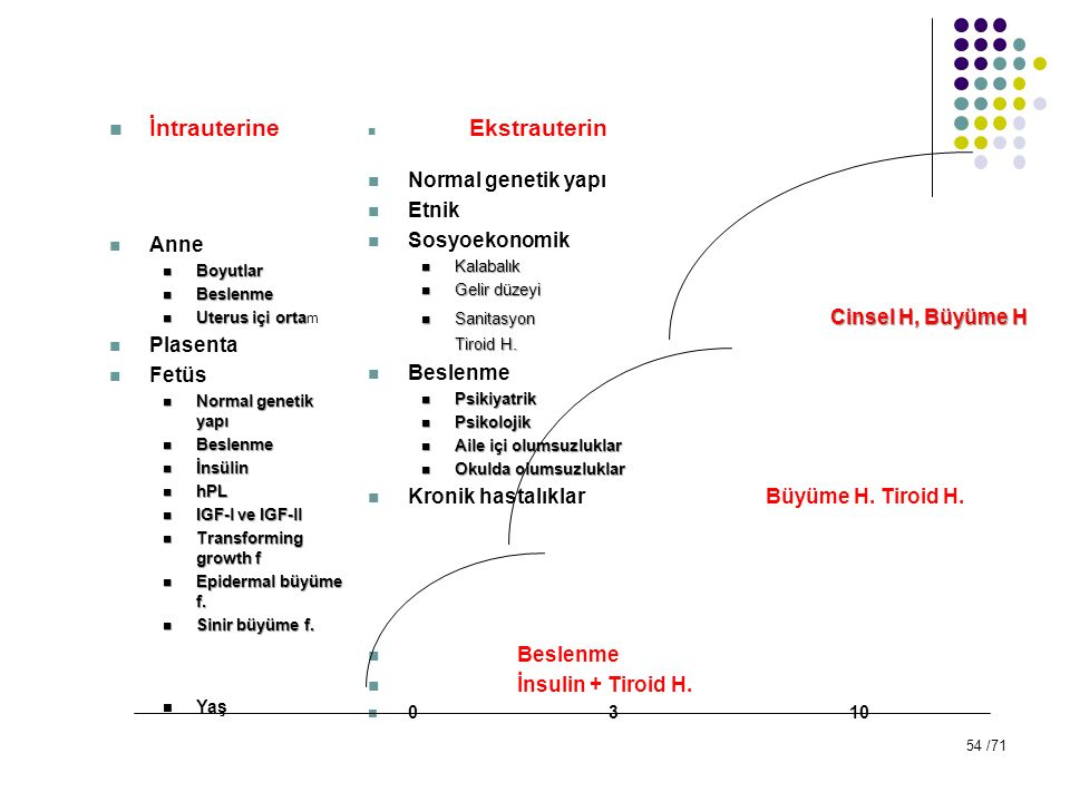 İntrauterine Normal genetik yapı Etnik Anne Sosyoekonomik Plasenta