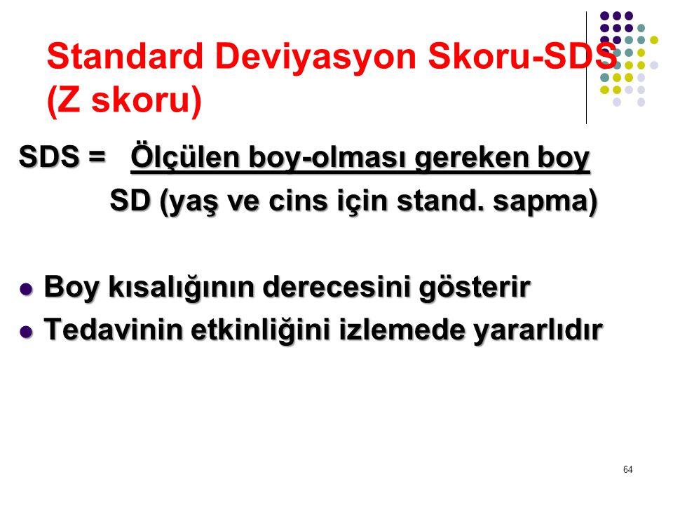 Standard Deviyasyon Skoru-SDS (Z skoru)