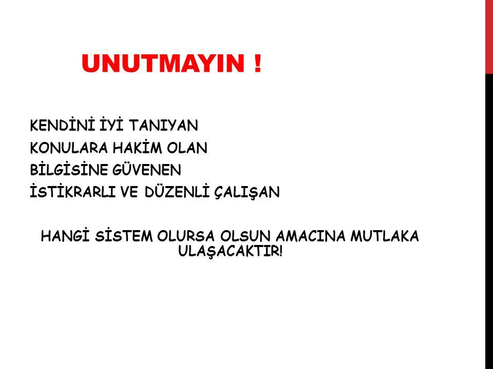 UNUTMAYIN !