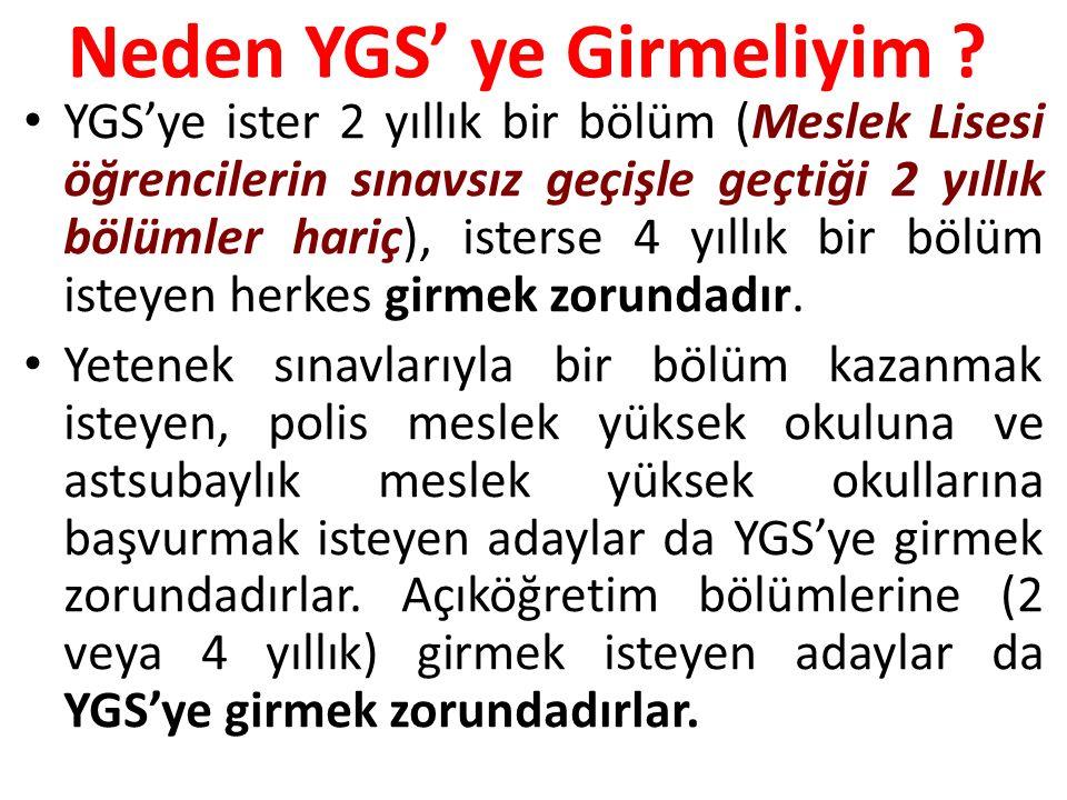 Neden YGS' ye Girmeliyim