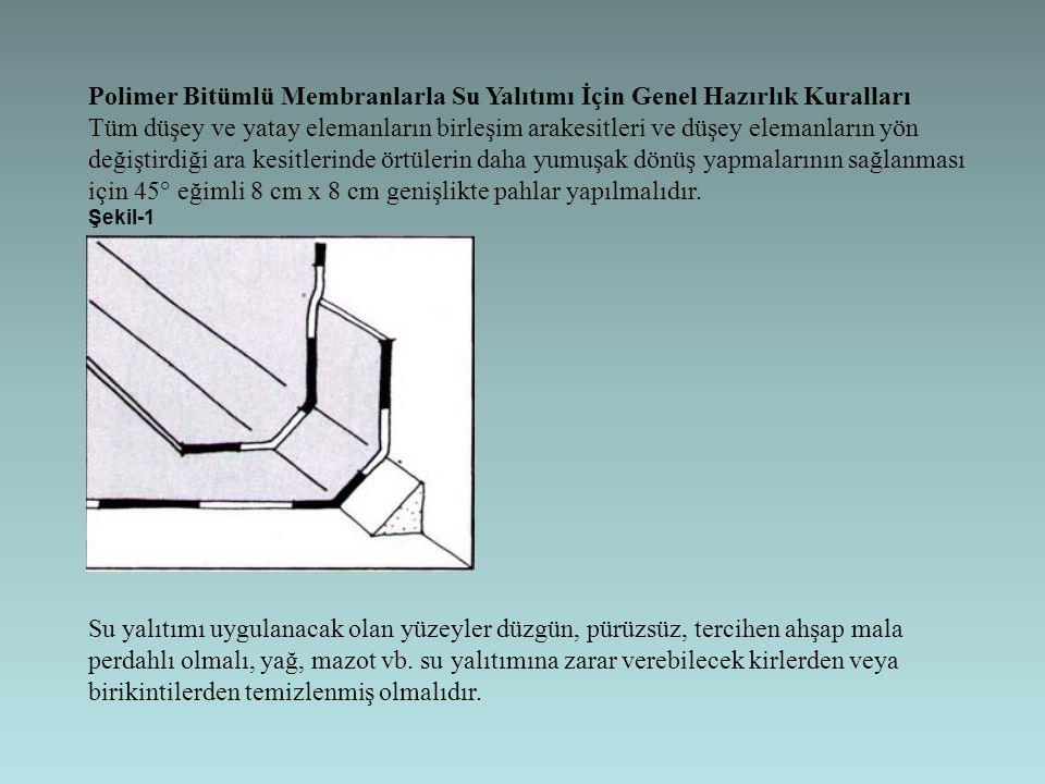 Polimer Bitümlü Membranlarla Su Yalıtımı İçin Genel Hazırlık Kuralları