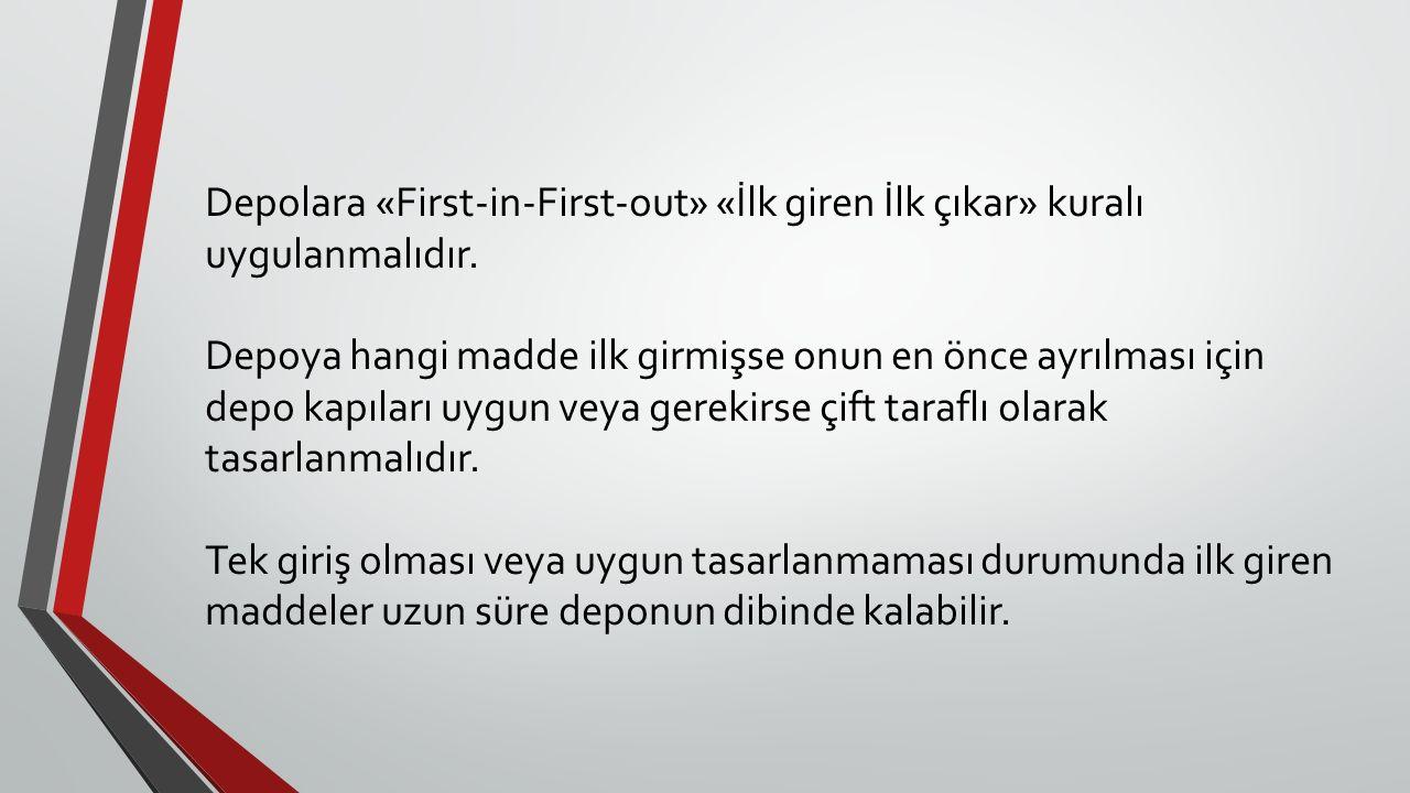 Depolara «First-in-First-out» «İlk giren İlk çıkar» kuralı uygulanmalıdır.
