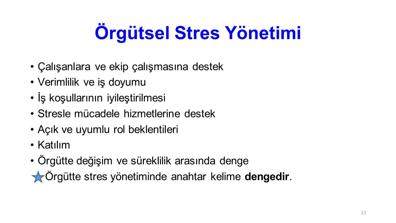 Örgütsel Stres Yönetimi