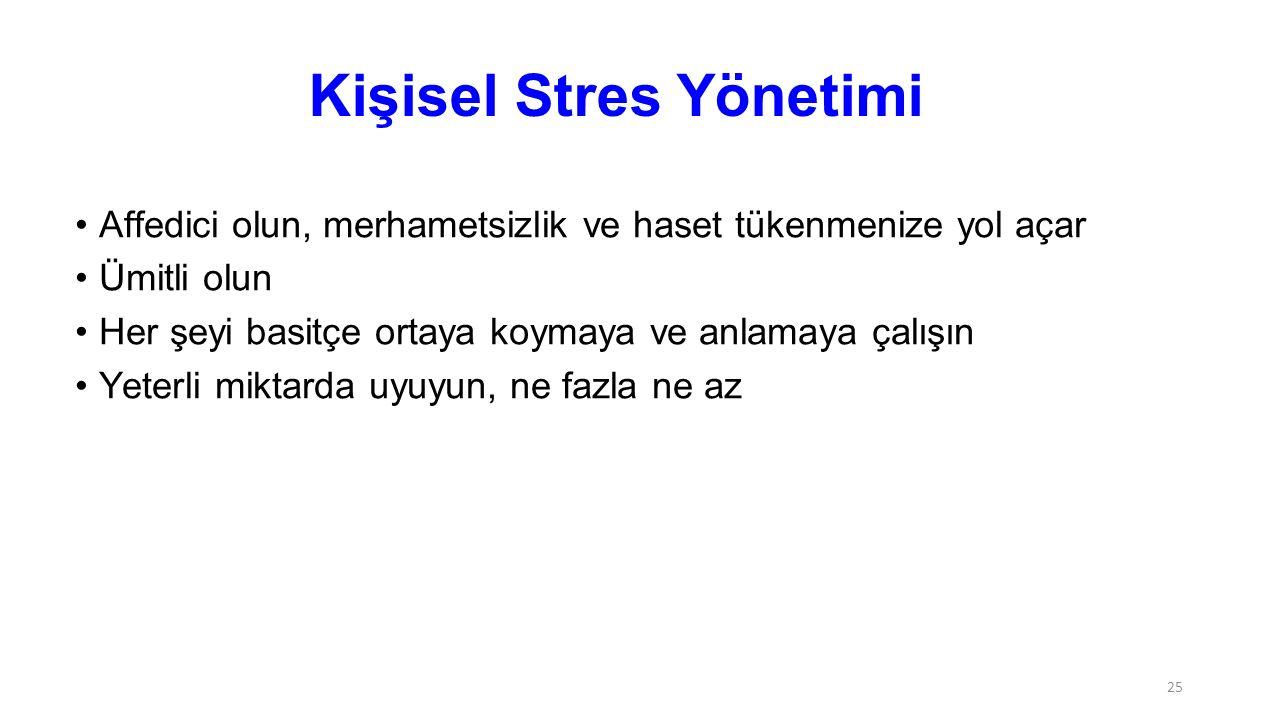 Kişisel Stres Yönetimi