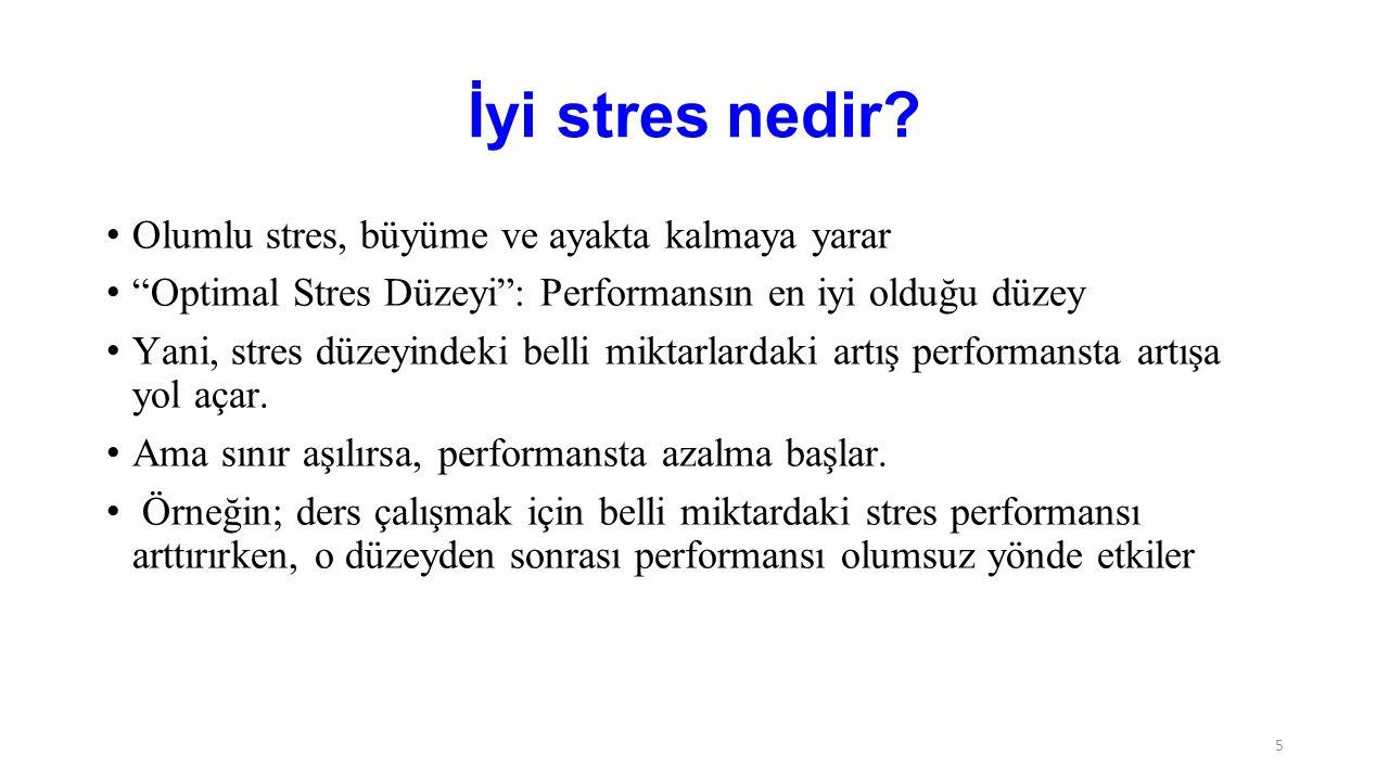 İyi stres nedir Olumlu stres, büyüme ve ayakta kalmaya yarar