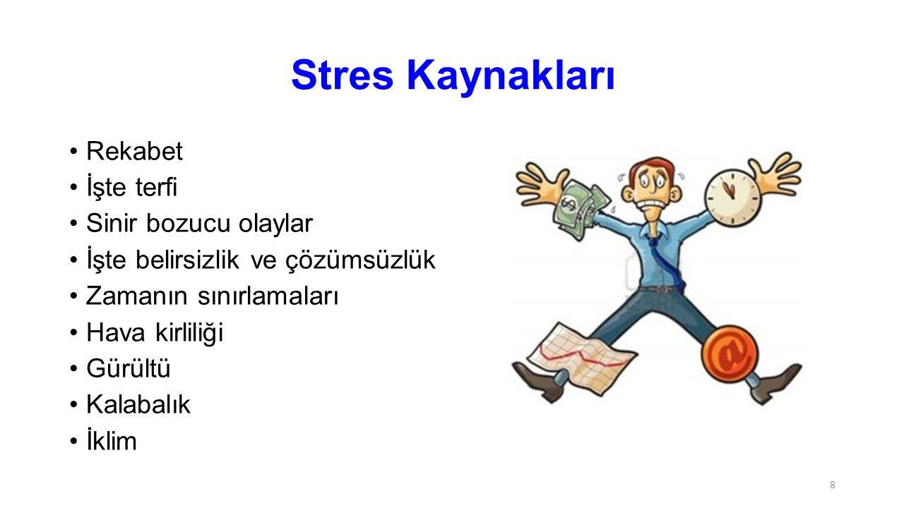 Stres Kaynakları Rekabet İşte terfi Sinir bozucu olaylar