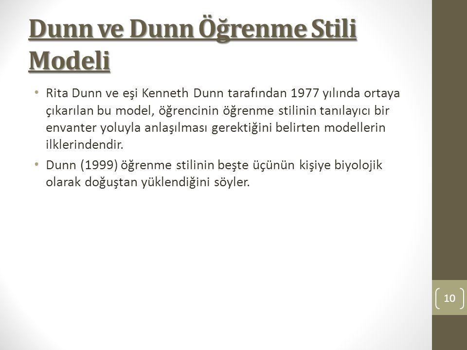 Dunn ve Dunn Öğrenme Stili Modeli