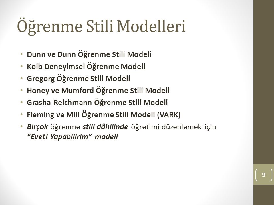 Öğrenme Stili Modelleri