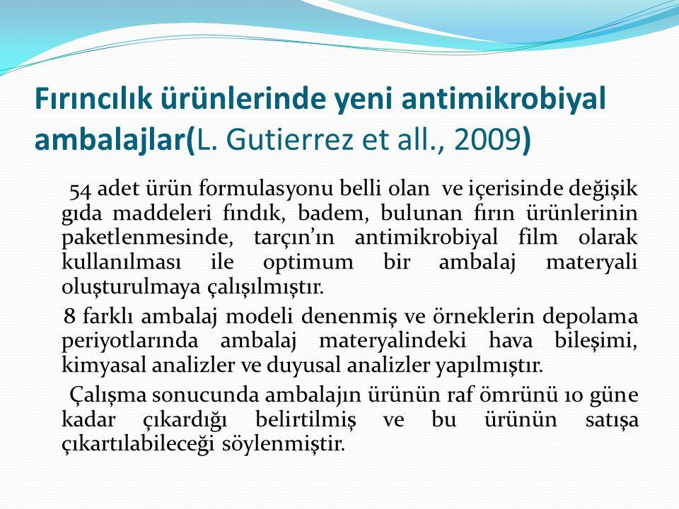 Fırıncılık ürünlerinde yeni antimikrobiyal ambalajlar(L