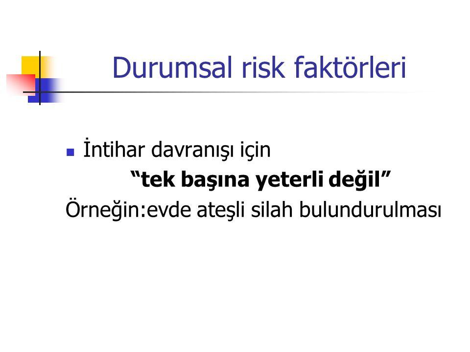 Durumsal risk faktörleri