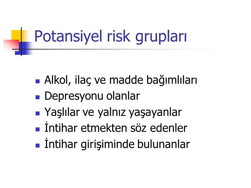 Potansiyel risk grupları