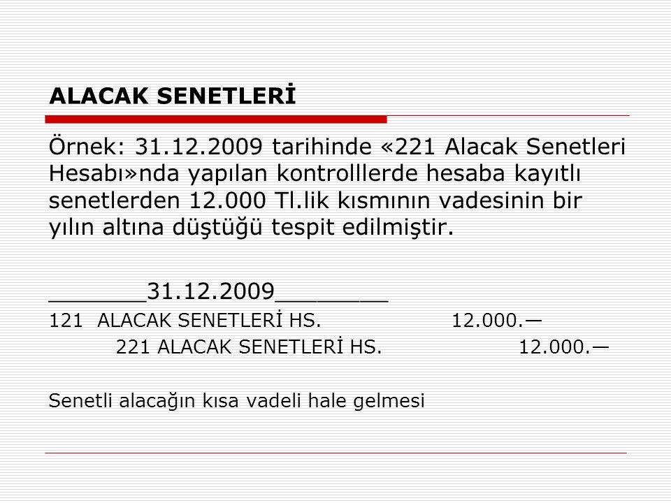 ALACAK SENETLERİ