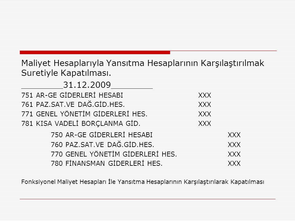 750 AR-GE GİDERLERİ HESABI XXX