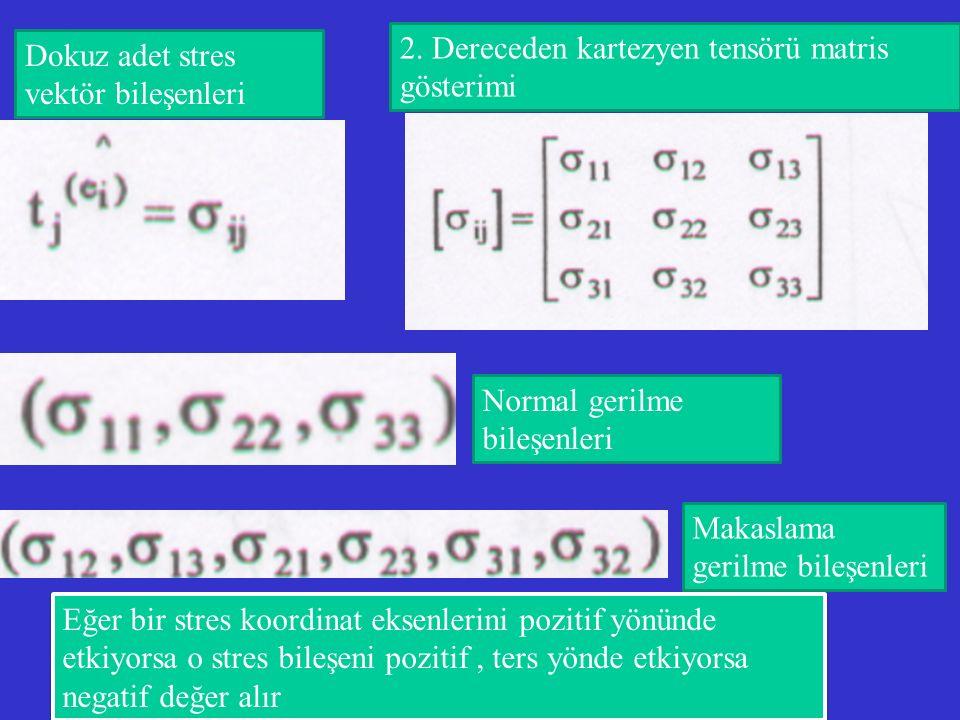 2. Dereceden kartezyen tensörü matris gösterimi